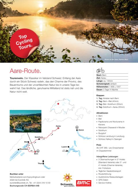 Fact Sheet Top Cycling Tour Aare