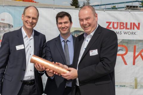 """ZÜBLIN legt Grundstein für Wohnprojekt """"Elbterrassen II"""" in Geesthacht"""