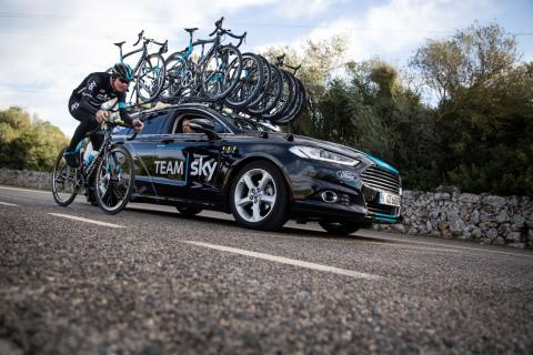 Ford bliver eksklusiv bilpartner for cykelholdet Team Sky