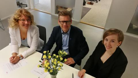 Into Seinäjoki tiivistää yhteistyötään opiskelijoiden yrittäjyysyhteisön kanssa