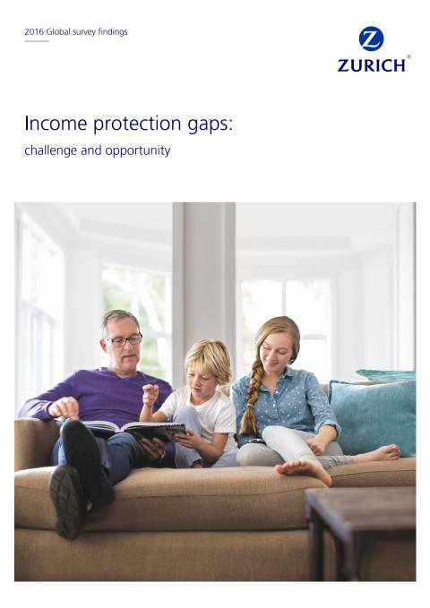 """Broschüre in Englisch """"Income Protection Gaps: challenge and opportunity"""""""