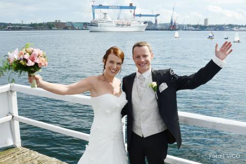 Hochzeit Kiel Wasser©VICO