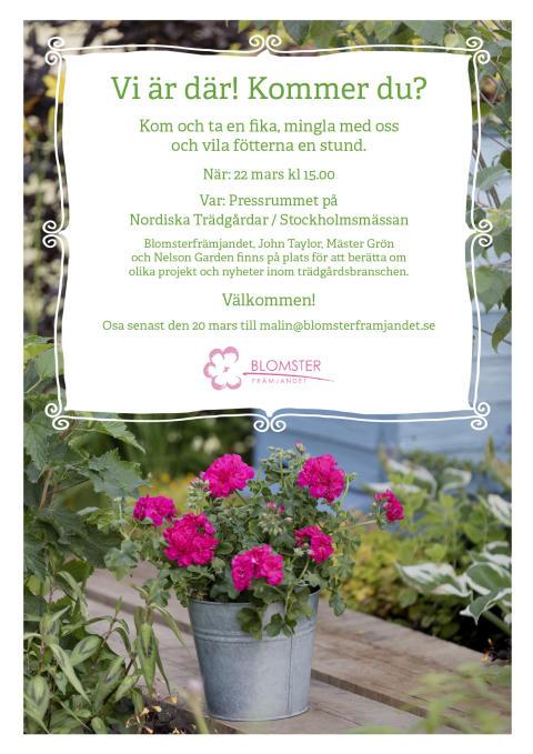 Inbjudan Trädgårdsmässan