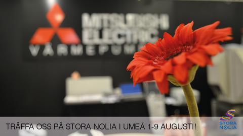 Hälsa på Mitsubishi Electric på Stora Nolia i Umeå!