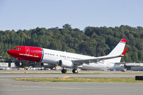 God passasjervekst for Norwegian i september