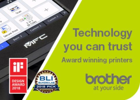 Design quality of Brother products secures four prestigious awards