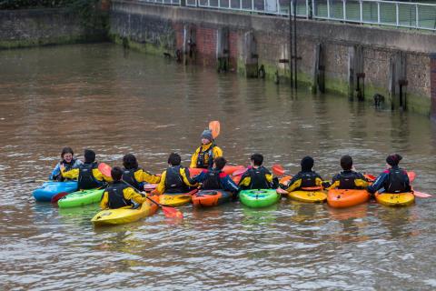 Kayaking, Westminster, Thames, River