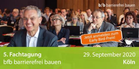 5. Fachtagung bfb barrierefrei bauen in Köln