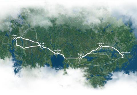 Växande norskt intresse för snabbare järnvägsförbindelse mellan Oslo och Stockholm