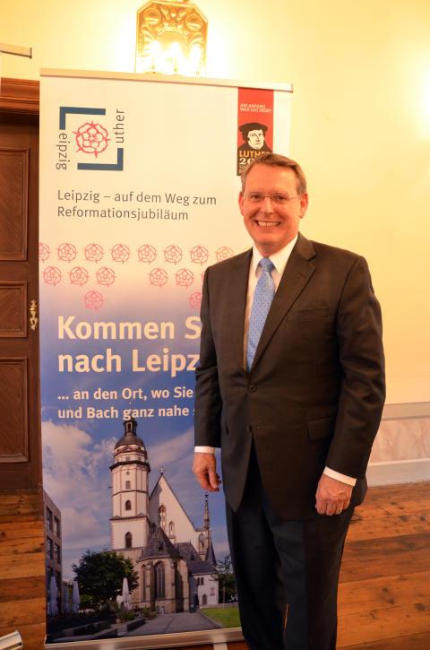 Houstoner Reverend Dr. Robert Moore ist Leipzigs Reformationsbotschafter in den USA