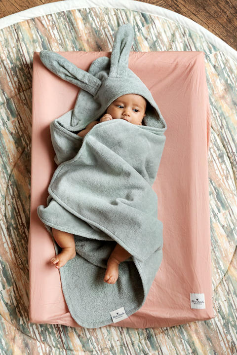 Elodie Details SS19 - Hooded Towel Mineral Green