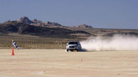 El-bil med ny fartsrekord