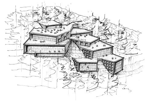 Naturnära, magiska vyer när Liljewall ritar Bergsbadet i Järvsö