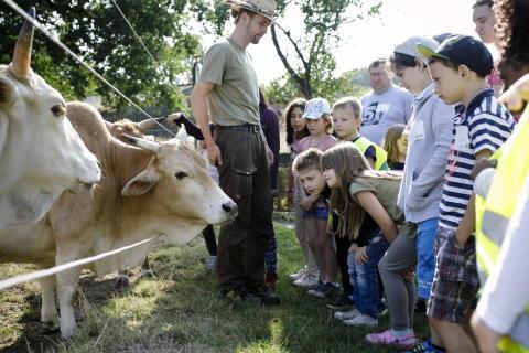 Entdecke den Biobauernhof mit dmBio Naturland und der Sarah Wiener Stiftung