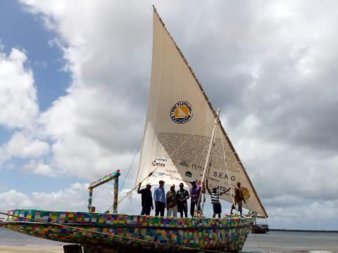 Northumbria lecturer and former student set sail to raise awareness of plastic pollution in the Indian Ocean