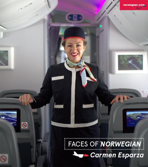 Faces of Norwegian: Carmen Esparza