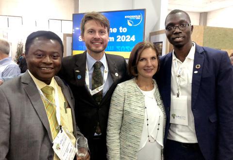 Sveriges ambassadör i Brasilien tog emot värdskapet för IUFRO 2024