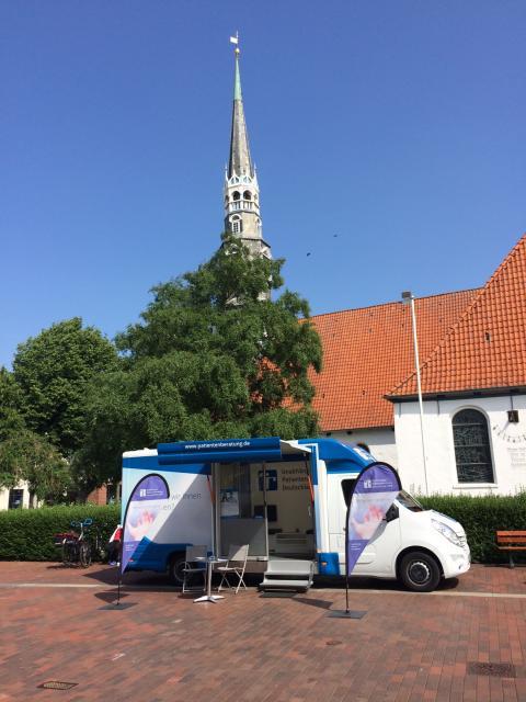 Beratungsmobil der Unabhängigen Patientenberatung kommt am 18. Oktober nach Heide.