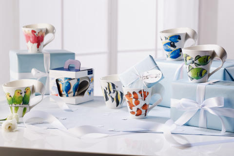 New décor for NewWave Caffè Animals of the World:  The exotic fish of the Great Barrier Reef adorn the second edition