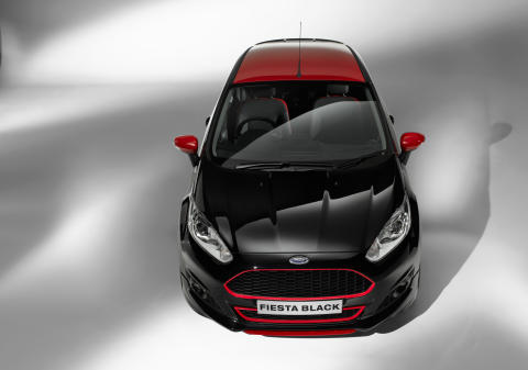 Ford Fiesta Black Edition med prisbelønt EcoBoostmotor med 140 HK