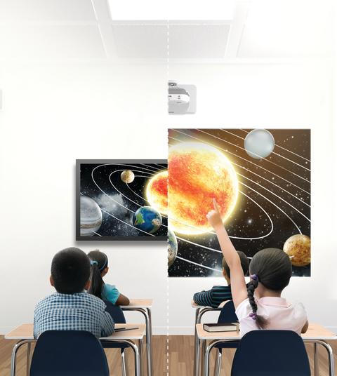 Interactive projectors for the classrooms of tomorrow