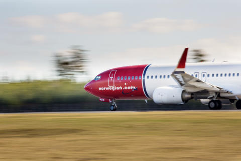 The first flight from Palanga to Bergen has taken off