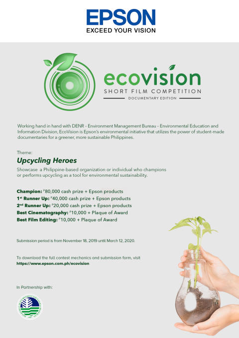 Epson, DENR-EMB call entries for the 2nd EcoVision Film Competition
