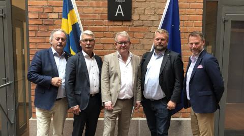 Fortsatt dialog med regeringen om en snabbare järnvägsförbindelse mellan Oslo och Stockholm