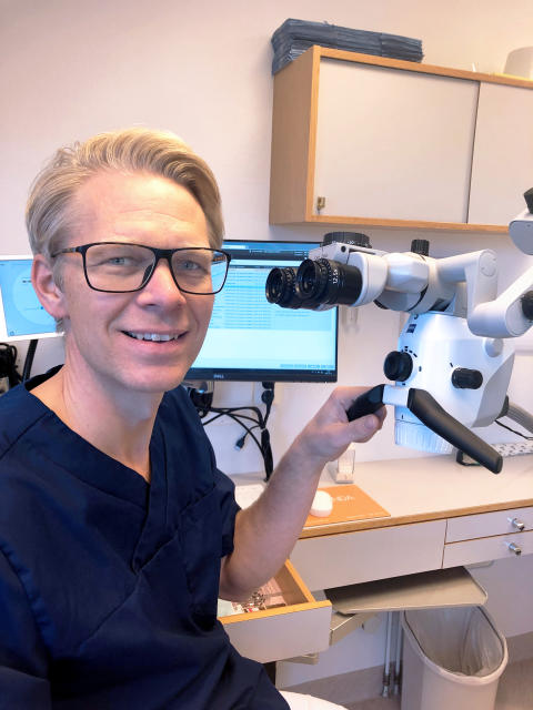 Erik Ardesjö, tandläkare och specialist i endodonti på Endodonti Örebro.