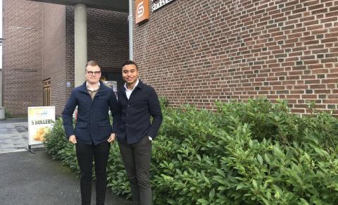 Styreleder Vetle Langedahl (tv) og nestleder Sebastian Henriksen
