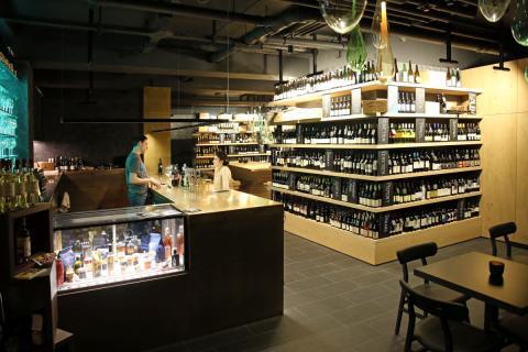 Die Weinhandlung Château9 mit angeschlossener Weinbar