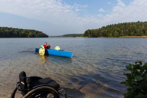Barrierefreies Kanu in Lindow