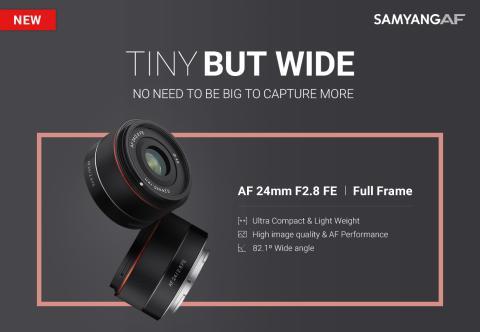 SAMYANG launcht neues  AF 24mm F2.8 FE [Tiny but Wide] Autofokusobjektiv für Sony E-Mount