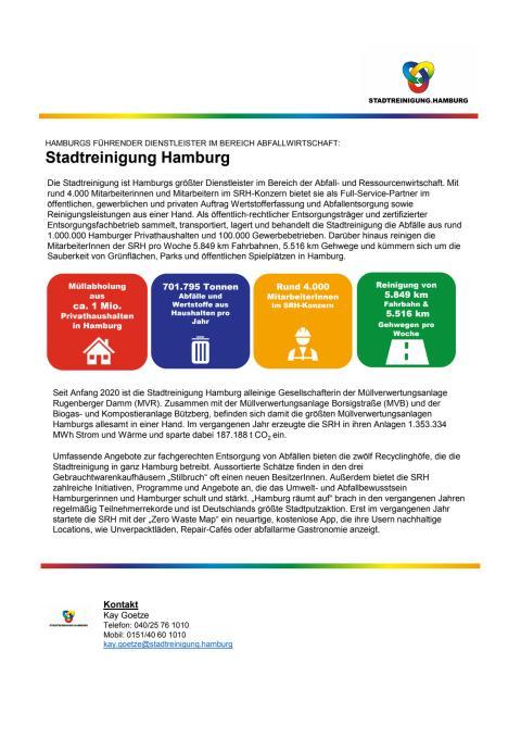 Stadtreinigung Hamburg @ Hamburgs Wertstoff Innovative