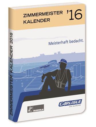 ZIMMERMEISTER KALENDER `16