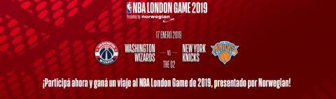 Norwegian sortea pasajes a Londres para asistir al NBA London Game 2019