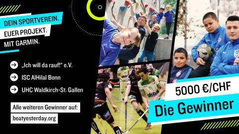 Dein Sportverein. Euer Projekt. Mit Garmin. – Das sind die Gewinner
