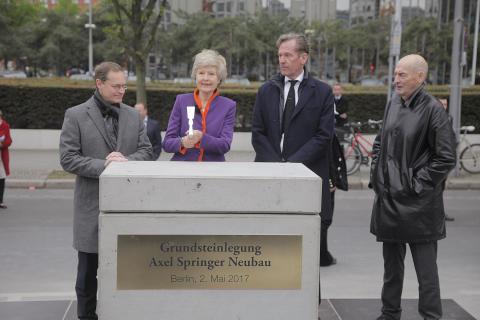 Grundsteinlegung Axel-Springer-Neubau in Berlin