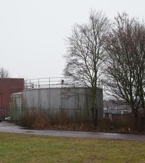 Oljetankar vid FV-central Fredriksdal, Helsingborg