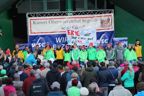 Begrüßung Olympia-Helden im Erzgebirge