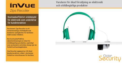 Varularm för ökad försäljning av elektronik och stöldbegärliga produkter
