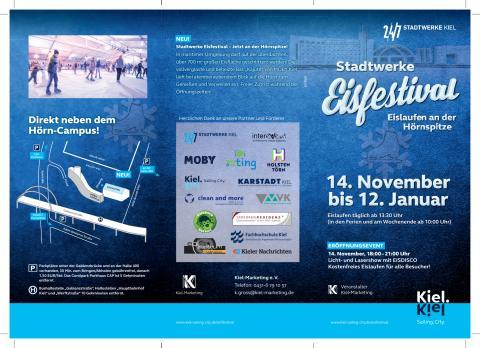 Der Flyer des Stadtwerke Eisfestivals