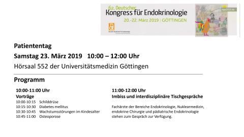 Programm Patiententag Göttingen - Endokrinologie