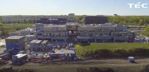 Status på byggeriet af H.C. Ørsted Gymnasiet i Lyngby