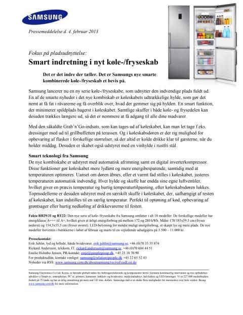 Fokus på pladsudnyttelse: Smart indretning i nyt køle-/fryseskab