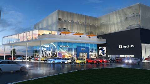 Hedin Bil investerar i FordStore i södra Stockholm och Göteborg