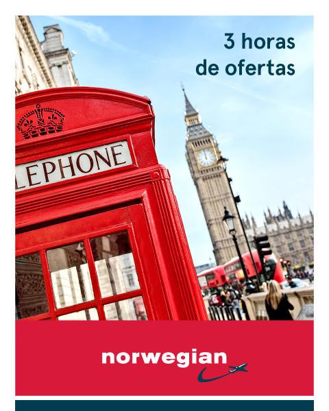 Este miércoles, por sólo tres horas: Norwegian lanza ofertas con descuentos de hasta 20 por ciento