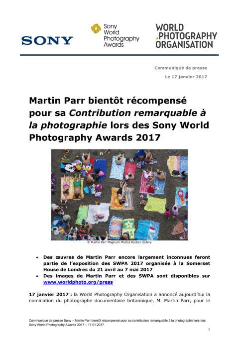 Martin Parr bientôt récompensé pour sa Contribution remarquable à la photographie lors des Sony World Photography Awards 2017