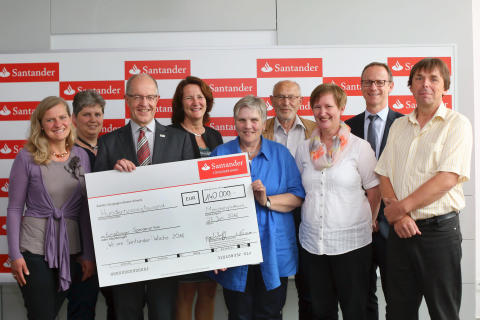 Santander spendet 140 000 Euro für wohltätige Zwecke
