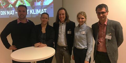 Din mat – vårt klimat! Svenskt Sigills klimatseminarium lett av Maria Wetterstrand.